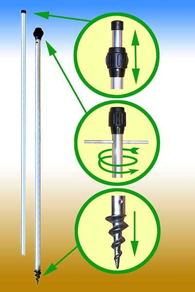 Telescopic Tree Stakes (pack of 3) - Click Image to Close