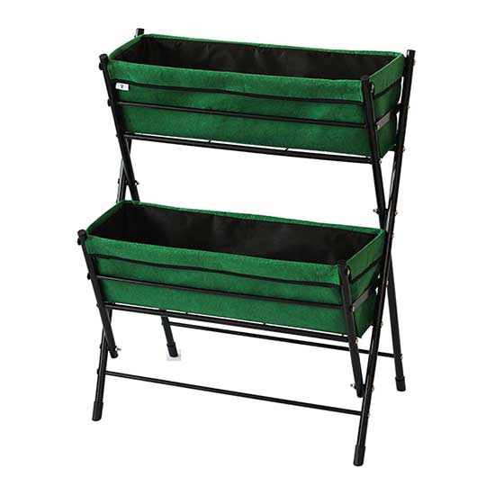 Flower Pots & Stands VegTrug™ Poppy Go! 2-Tier Planter (Dark Green)