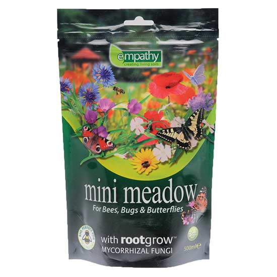 Empathy 'mini meadow' seed mix is the ideal way to achieve the perfect habitat for pollinating insects (bees, bugs and butterflies).